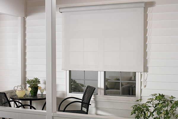 Exterior Solar Shade With Continuous Loop Lift And Outdoor Casette Valance